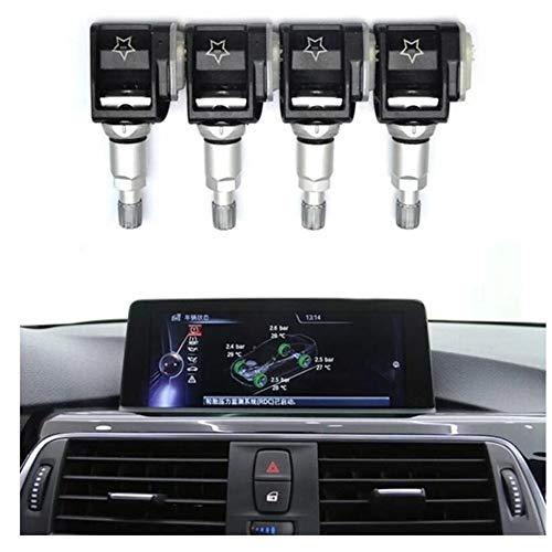 Control de presión de neumáticos 4 PCS del neumático del coche monitor de la presión del sensor TPMS for Mercedes Benz Clase E E300 E400 A257 CLS W213 S213 (Color : Black)