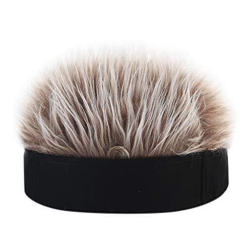 PLOT Unisex Hüte für Damen Herren Straße Perücke Cap Mützen Hip-Hop Melonen Wintermütze Baseball Caps mit Haarteile