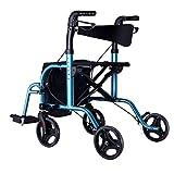 Xiaotian Senioren-Aluminium-Reiserad mit sitzendem Walker-Einkaufswagen auf Vier Rädern