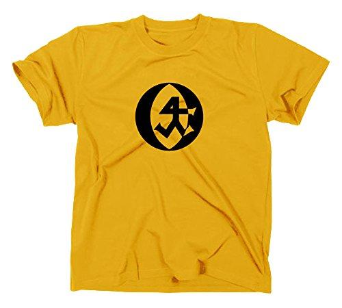 Steinmetz Handwerk Zunft Logo T-Shirt, XXL, gelb