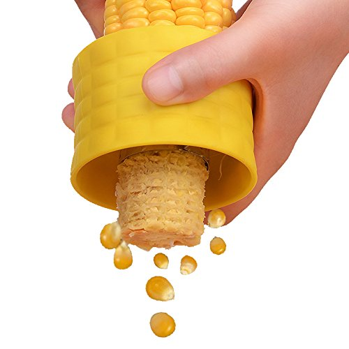 Corn Cob Stripping Device, Corn off the Cob Cutter,Corn Stripping Peeler Tool Corn Slicer, Creative Kitchen Gadgets