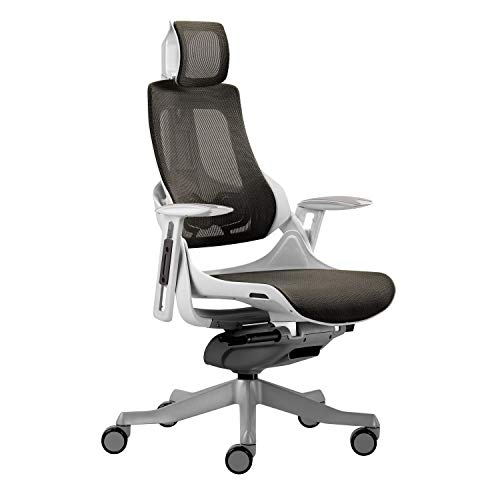 Techni Mobili RTA-1818C-GRY LUX Ergonomic Executive Chair, Grey