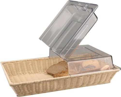 Brotkorb Brotkörbe Korb mit Scharnierdeckel GN 1/1 53 x 32,5 x 15 cm Poly Ratten für Geschirrspüler geeignet