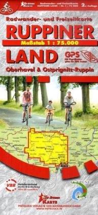 VBB + Pietruska - Ruppiner Land, Oberhavel & Ostprignitz-Ruppin: Fahrrad- und Freizeitkarte