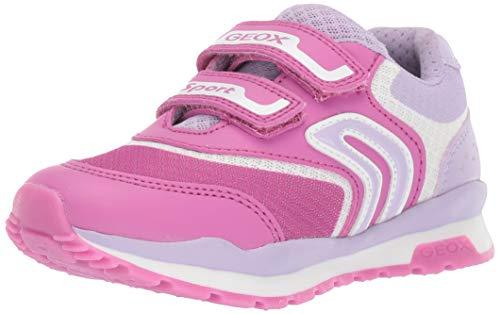 Geox Mädchen J Pavel Girl a Sneaker, Pink (Fuchsia/Lilac C8257), 33 EU