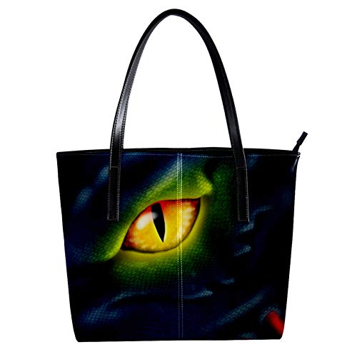 Indimization Thermal Tote Bag for Grocery Shopping Transport Cold or Hot Food Large Capacity Insulated Reusable Environmental protection Monster Eyes 15.7x11.4x3.5in