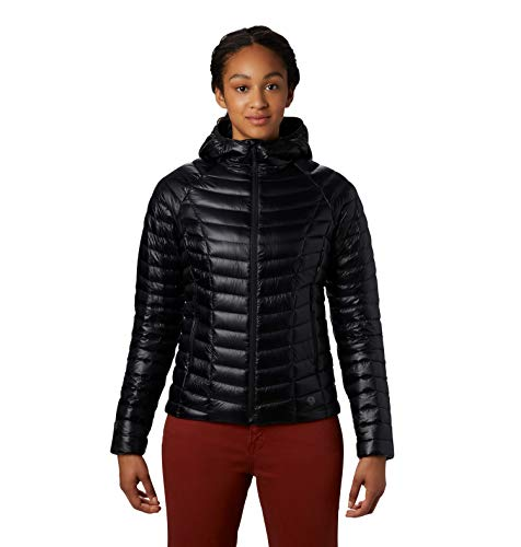 Mountain Hardwear Women's Ghost Whisperer/2 Down Hoody Insulated Jacket for Everyday, Hiking and Skiing Packable and Water-Resistant with 800-Fill Down - Black - Small