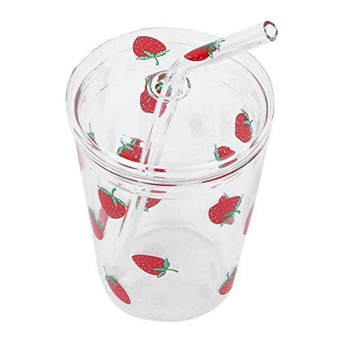 Vasos con tapas y pajitas a granel, vaso transparente para beber jugo...