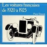 Les voitures françaises de 1920 à 1925