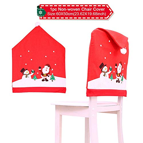 Sweet-Cupid Santa Claus Chair Cover Christmas Decorations for Home Snowman Christmas Table Decor Navidad Ornaments Gift Xmas,67-1