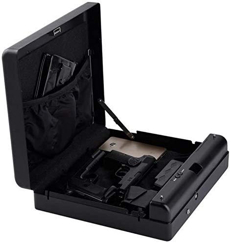 Hammer Caja Fuerte Digital, Huella Digital Caja de Seguros Portable de la joyería biométrico de Huellas Dactilares Caja de Arma de Mano escondida Caja Fuerte en Dormitorio, Teclado joyería de Bloqueo