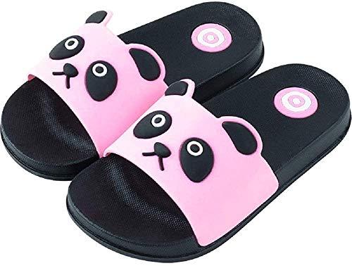 Pantofole Panda Availablel Bambini Unisex Cartone Animato Carino Casa Scarpe Doccia Sandali Esterni Morbidi Antiscivolo Regalo del Bambino (26/27 EU,Rosa)