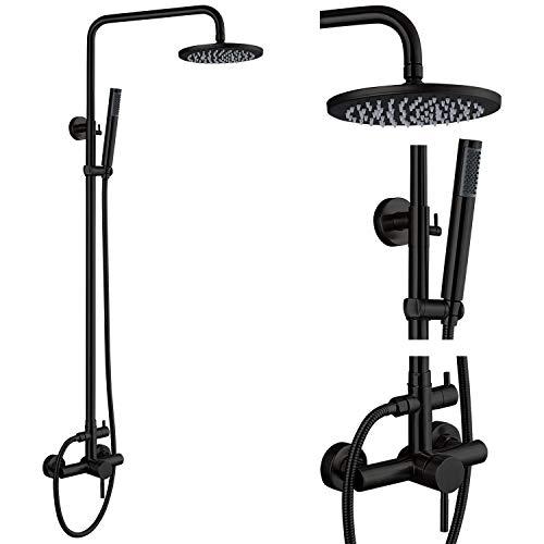 Outdoor Shower Fixture Set Matte Black SUS 304...