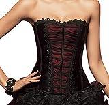 r-dessous sexy Corsagentop Vollbrust Corsage Korsett Bustier Bluse schwarz Gothic Groesse: XXL