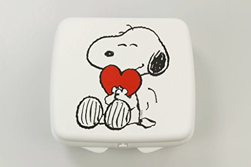 TUPPERWARE To Go Sandwich-Box weiss Snoopy mit Herz Pausenbrotbehälter Dose