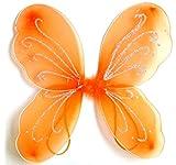 Alas de mariposa - accesorio de disfraz - disfraz - carnaval - halloween - teatro - hada - naranja - niña - 3-7 años - idea de regalo para cumpleaños