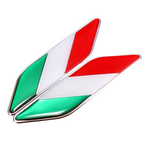 Purchase UTUT Car Badge 2Pcs 3D Italian Flag Adhesive Car Sticker Badge Waterproof Emblem Styling De...