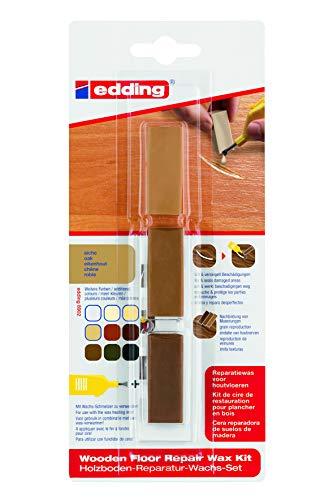 edding 4-8902-1-4603 Holzboden-Reparaturwachs-Set 8902 DIY, eiche