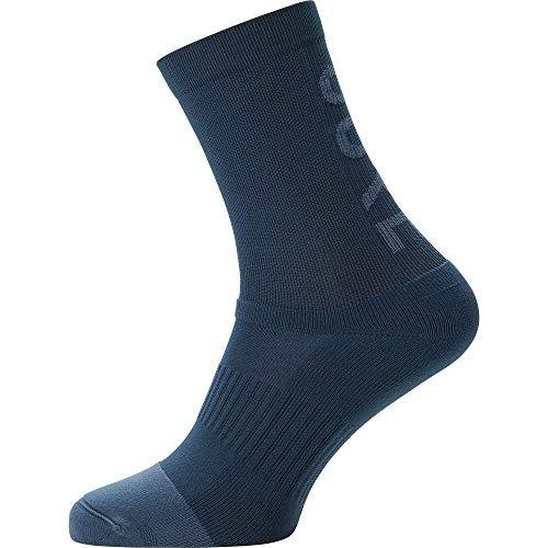 GORE WEAR C3 Calzini medi unisex da ciclismo, 44-46, Blu scuro