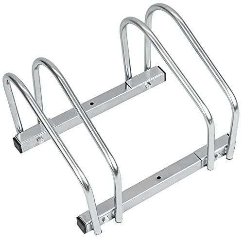 PrimeMatik - Râtelier 2 vélos Système Range-vélo Support pour Bicyclette en Acier Fixation Sol ou Mur