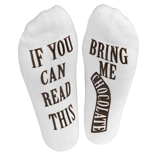 """Haute Soiree - Women's Novelty Socks - """"If You Can Read This, Bring Me Some"""" One Size Fits All..."""
