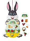 Xinge Felt Easter Bunny, 35.04'' DIY Rabbit Wall Hanging Games with 28 Pcs Detachable Ornaments Wall Decor for Kids Boys Girls Home Door Decoration (Felt Bunny-1)