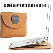 """15 Inch Laptop MacBook Sleeve with Stand Function, Fit 15"""" MacBook Pro A1398 2014-2015/15"""" Dell XPS/ 14"""" Lenovo ThinkPad Protective Pouch Bag Waterproof Cover"""