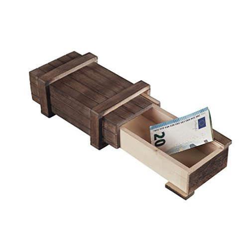 MS-Versand Zauberhafte Holzgeschenkbox - zum kreativen Verschenken von Gutscheinen, Schmuck und Geld (groß 15 x 8 x 5 cm)
