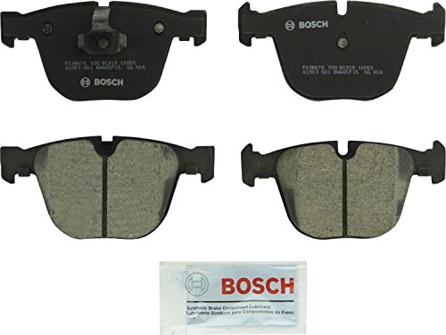 Bosch BC919 QuietCast Premium Ceramic Disc Brake Pad Set For Select Bentley Continental; BMW (i, Ci, Li)  535, 545, 550, 645, 650, 745, 750, 760, ActiveHybrid 7, Alpina B7, M3, M5, M6, X5, X6; Rear