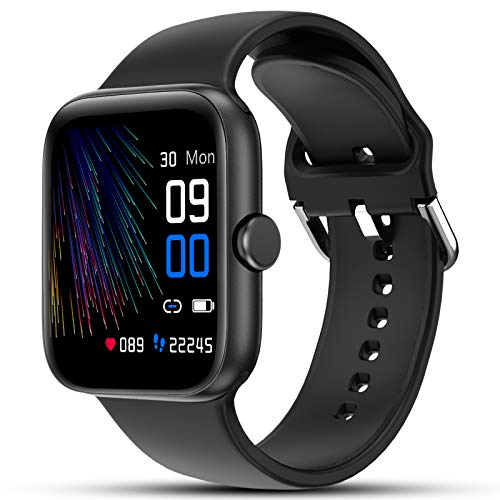 LIFEBEE Smartwatch Orologio Sportivo Fitness Tracker Uomo Donna,Bluetooth Smart Watch TouchScreen Completo Cardiofrequenzimetro da Polso Impermeabile IP68 Contapassi Cronometro Sveglia per Android iOS