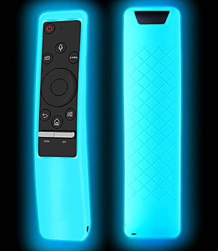 Case Compatible with Samsung Smart TV Remote Glow in The Dark Controller BN59 Series, Light Weight Silicone Cover Protector Shockproof Anti-Slip Remote Skin Sleeve - Sky Glow