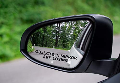 Vool 2x Objects In Mirror Are Losing Vinyl Decal / Sticker Funny Mirror Race Drag Car