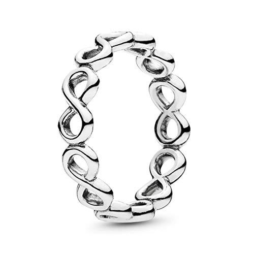 LIUL Anillos de Dedo de Corona románticos para Mujeres Que se Ajustan a Anillos Finos Originales Regalo de joyería de Compromiso de Boda