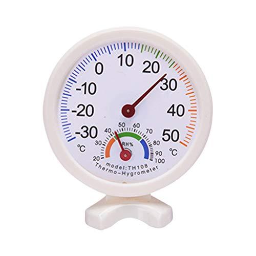 BESPORTBLE Thermometer Hoge Precisie Pointer Temperatuur Monitor Thuis Temperatuur Sensor met Stand voor Thuis Gezondheidszorg Wit Kleur: wit