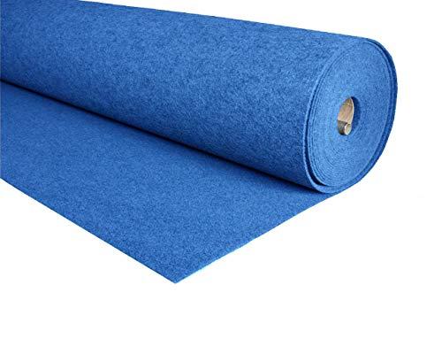 MOQUETA Azul, 280gr/m2, Venta por Metros, para Interior, Salón, Suelo [Ancho 100 cms]