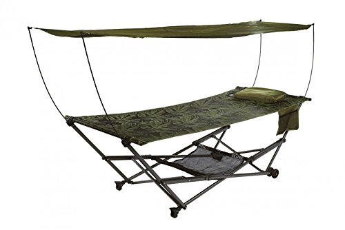 Bliss Hammocks Q-806FJr STOW-EZ Portable Hammock & 4 Point Stand with Canopy.