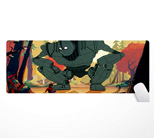 The Iron Giantyingwen, tappetino da mouse gigante in ferro, antiscivolo, a base di gomma, 80 x 30 cm