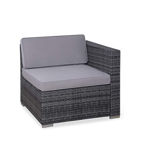 SVITA Poly Rattan Lounge California Gartenset Sofa Garnitur Polyrattan Gartenmöbel Farbwahl (Grau) - 5