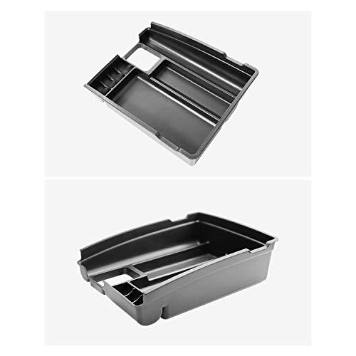 RUIYA Aufbewahrungsbox Aufbewahrungskiste Mittelkonsole Veranstalter Armlehne Box angepasst Console Armlehne Box angepasst für 2014-2018 Rogue X-Trail T32, Konsole Organizer Box einstellen (Weiß)