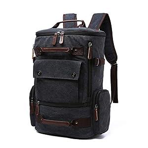 41jIBSE1tFL. SS300  - Mochila para Hombres Mochila Escolar de Lona Vintage Mochila de Viaje para Hombres Mochila de Gran Capacidad Mochila…