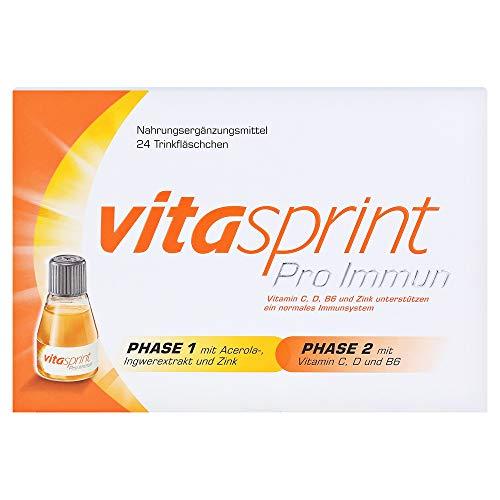 Vitasprint Pro Immun Trinkfläschchen – Natürliches Nahrungsergänzungsmittel zur Aktivierung der Abwehrkräfte – 1 x 24 Trink-Ampullen