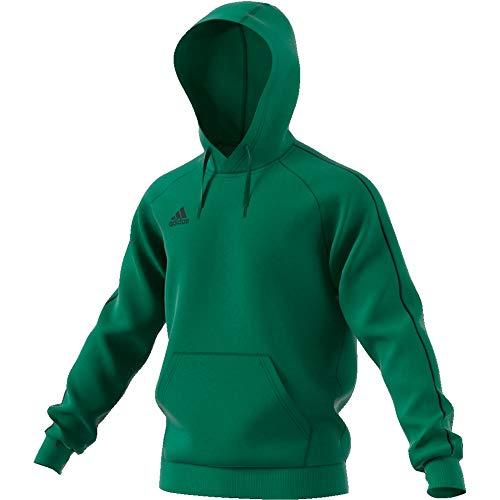 adidas Herren CORE18 Hoody Sweatshirt, Bold Green, S