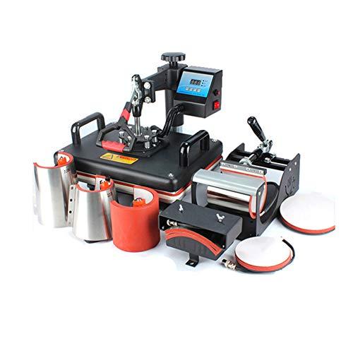 Máquina de prensa de calor Impresora de sublimación digital Máquina de transferencia de calor 2D para camisetas Taza Placa Tapa Caja del teléfono Fútbol, ocho en uno