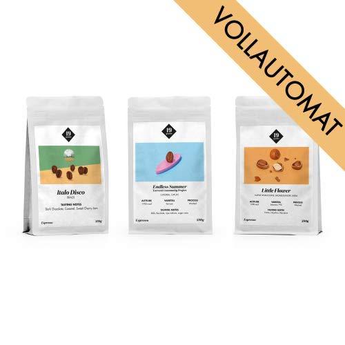 19grams Kaffeerösterei | 3 x 250g | Espresso Probierpaket für Vollautomaten | 3 x 250g ganze Kaffeebohnen | Bohnenkaffee | frisch geröstet | specialty coffee Qualität | 100% Arabica
