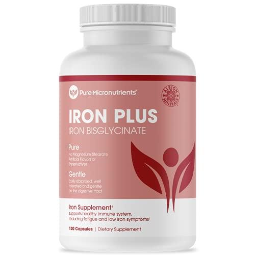 Pure Micronutrients Iron Plus Supplement, Natural Ferrous Chelate,...