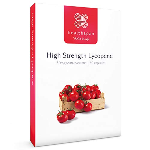 Lycopene   High Strength   Healthspan   60 Capsules   Phytonutrients   Vitamin E   Non-GMO Tomatoes   Vegan