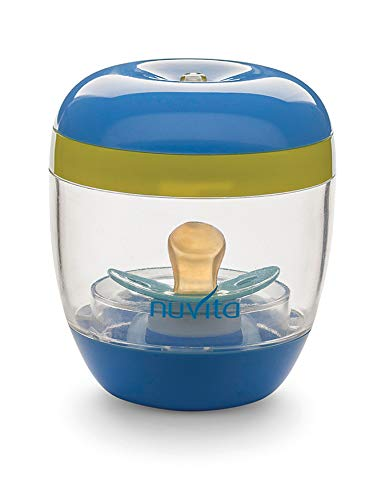 Nuvita 1556 | MellyPlus UV Sterilisator | Säuglingspflege | Tragbarer Babyflaschen Sterilisator | Schnuller Box UV Desinfektion für Baby | Sterilisationsgerät für Unterwegs | BPA Frei | EU Marke