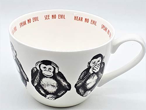 Portobello CM04804 Wilmslow Three Wise Monkeys Mug, Bone China, Multi-Colour by Portobello