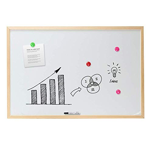Nfudishpu Chalkboards Message Board Photo Wall Magnetic Hanging Whiteboard Durable Office Household, 7 Sizes, 4 Styles