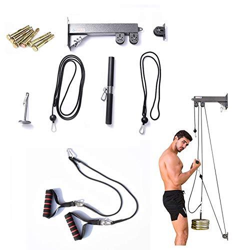 FGDSA Home Gym DIY Tricep Press Down Polea Cable Máquina Sistema De Fijación con Pasador De Carga Lat Pulldown Bar Muscle Fitness Equipment para Bíceps Brazo Muñeca Antebrazo Remo